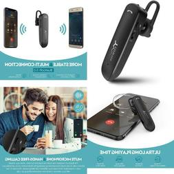 Bluetooth Headset Wireless 24Hrs Playtime Mic Noise-Cancelin