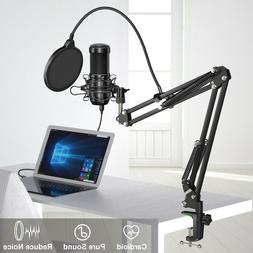 Aokeo Condenser USB Microphone Audio Stand for Game Chat Stu