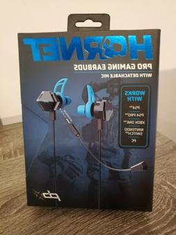 Hornet Pro Gaming Earbuds With Detachable Mic Works w/PS4 XB