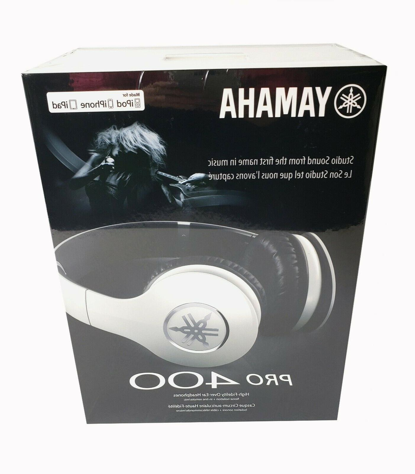 Pro 400 High-Fidelity Over-Ear Color White
