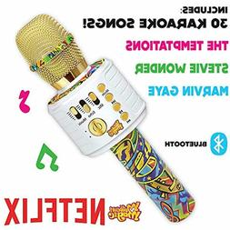 Motown Magic Bluetooth Karaoke Microphone for Kids, Toy for