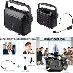 Portable Mini Bluetooth Pa System With Wireless Headset Micr