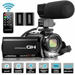 Video Camera Camcorder with Microphone, VideoSky FHD Vloggin
