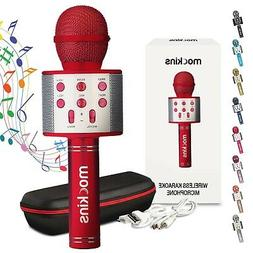 wireless bluetooth karaoke microphone red holiday gift